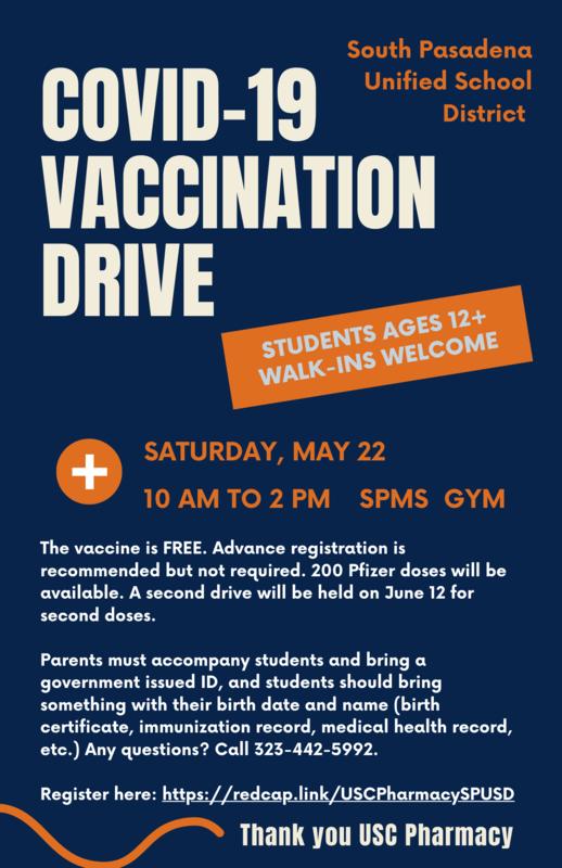 Vaccine Drive Flyer