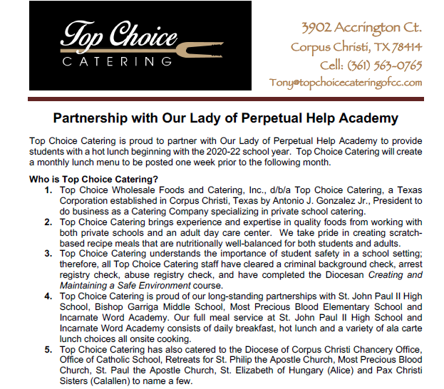 Top Choice Catering Intro