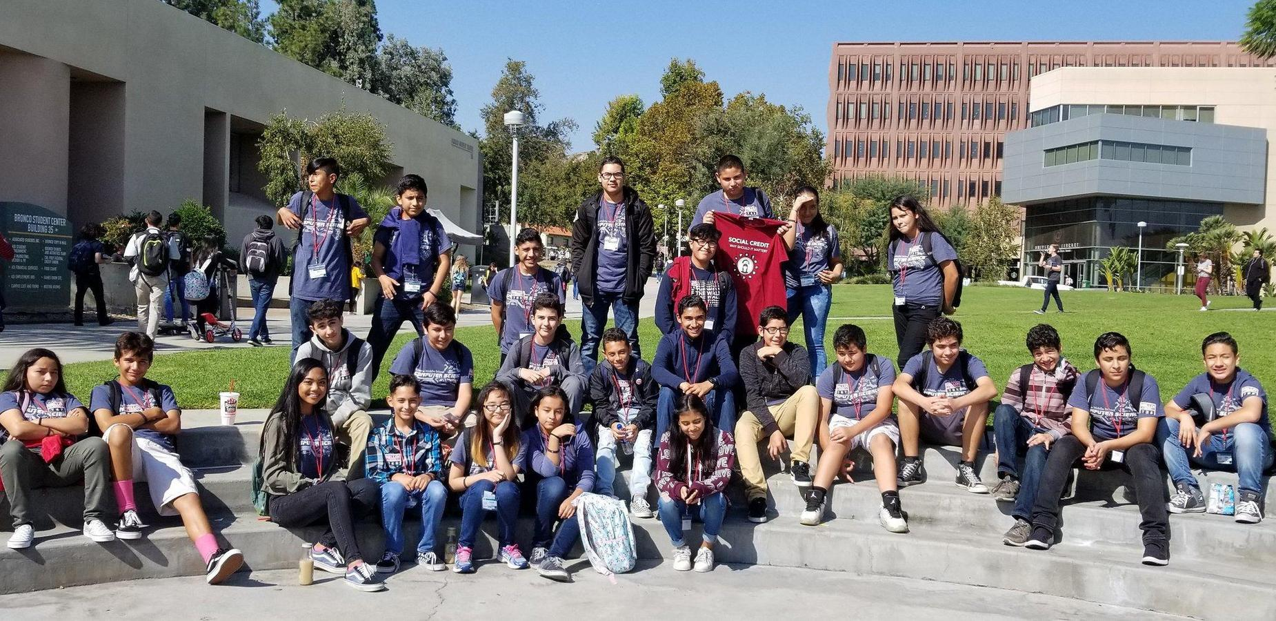Simons is making sure our students secure their future! Thank you Cal Poly Pomona for hosting the @cppcyfair and a big THANK YOU to @CSwithRamirez, she was instrumental in guiding our scholars at this awesome event! #proud2bepusd http://edl.io/n1121120