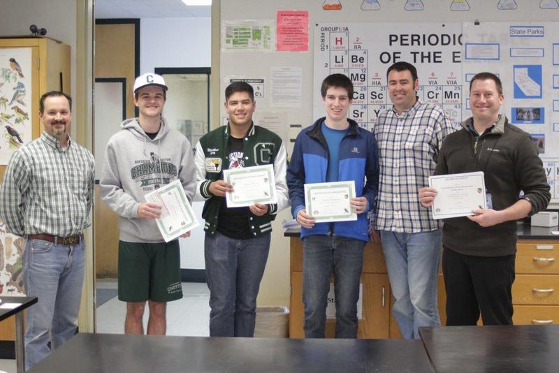 Teacher Dallas Tognotti and Aquaculture Students