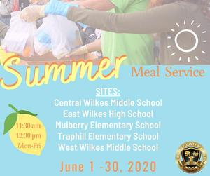 summer meal service  sites available for community