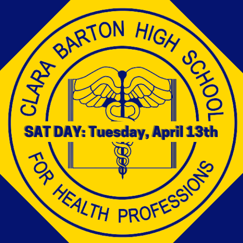 CBHS logo with SAT Day, Tuesday, April 13th across the middle