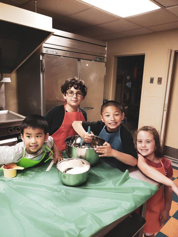 HWIS Immersion Summer Camp Junior Chefs in the Kitchen