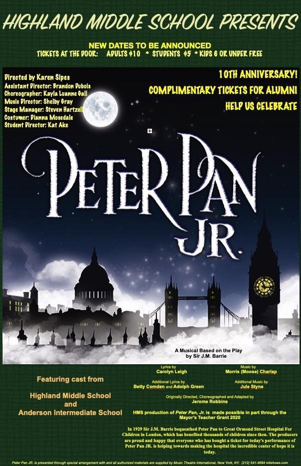 Peter Pan Jr. the Musical, dates TBA