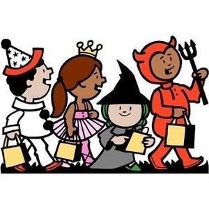 Kids in a Halloween Parade graphic