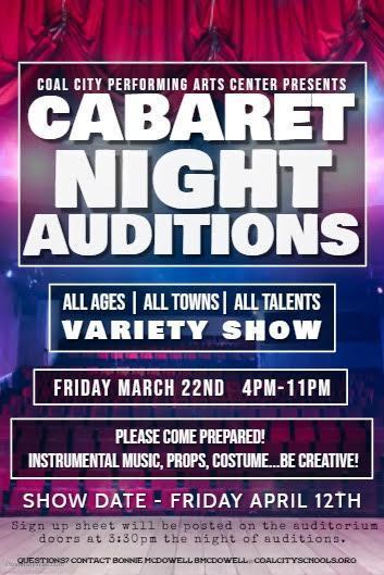 Cabaret Night Auditions
