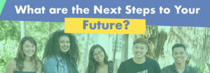 What are your next steps photo with students