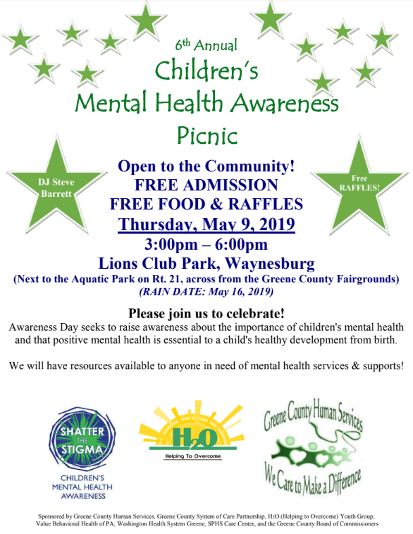6th Annual Greene County Children's Mental Health Awareness Picnic