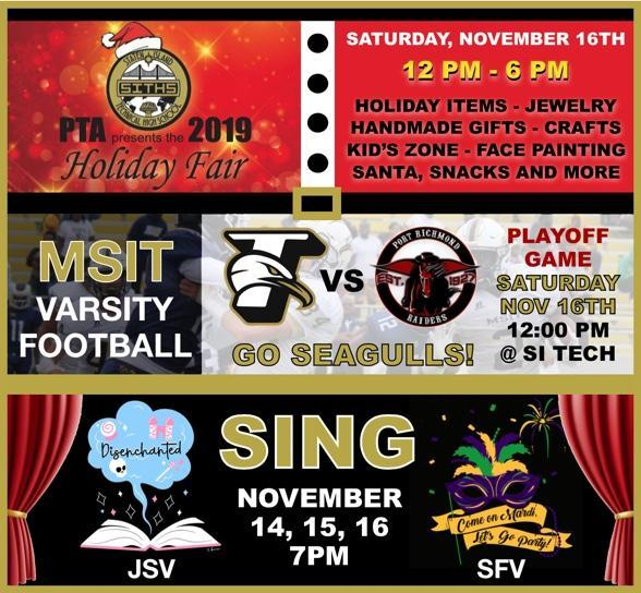 SING - MSIT Varsity Football Playoff Game - PTA Holiday Fair Featured Photo