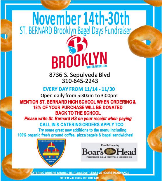 Brooklyn Bagel Fundraiser Featured Photo