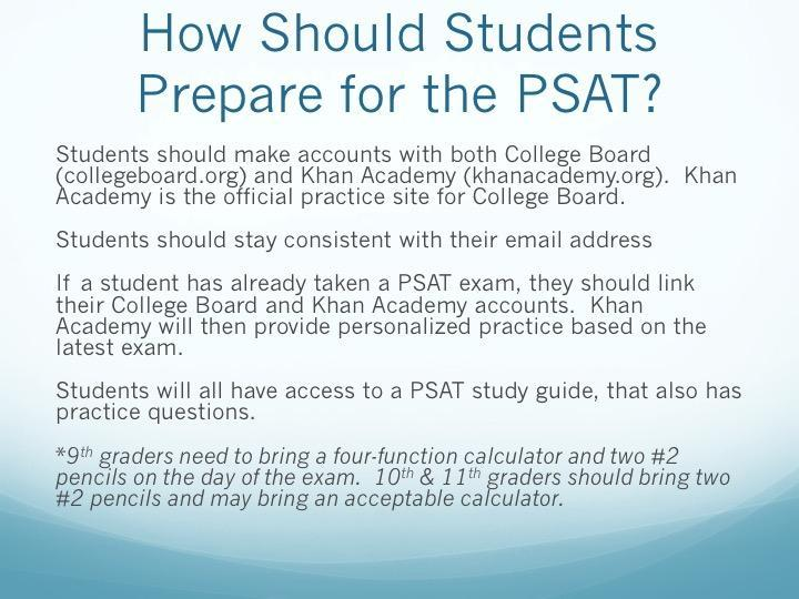 PSAT – Advanced Academics – Akins Early College High School
