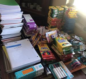 school supply donation