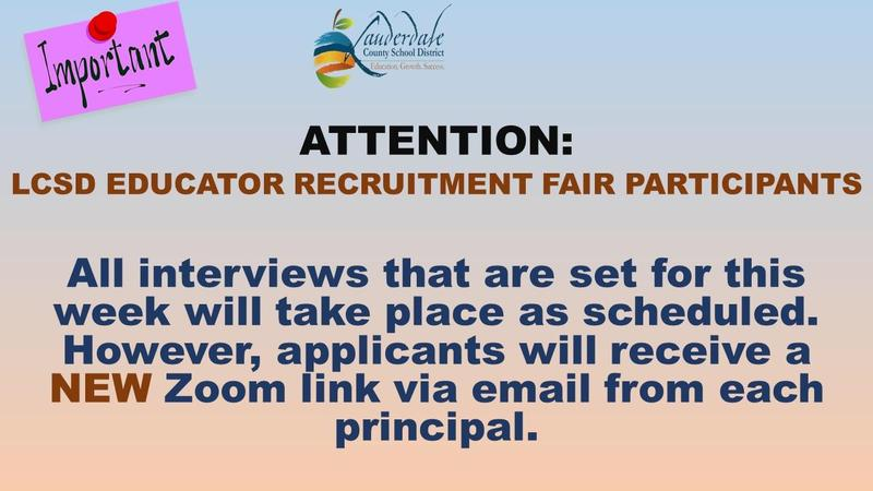 LCSD Educator Recruitment Fair Latest