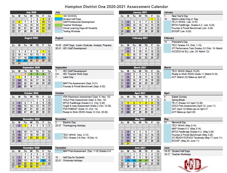 Assessment Calendar 2020-2021