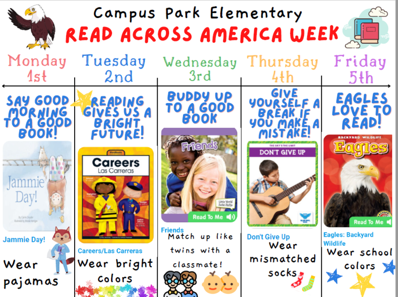 Dates with book links for read across america
