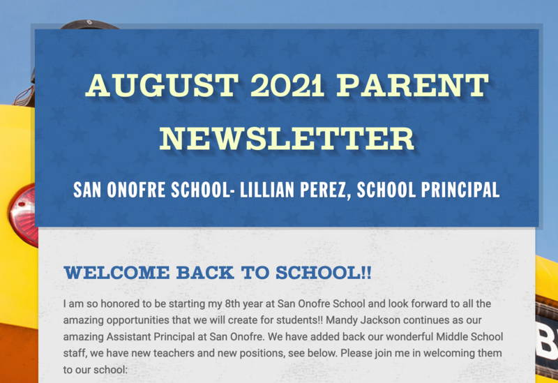 Back to School Newsletter Featured Photo