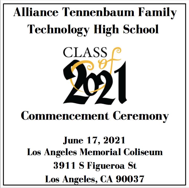 Class of 2021 Commencement Program/ Programa de Graduacion para la clase del 2021 Thumbnail Image