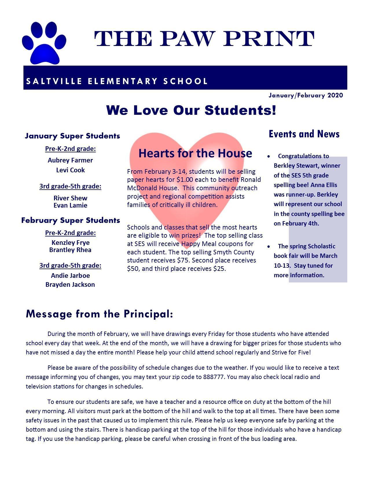 Saltville Elementary February 2020 News Letter