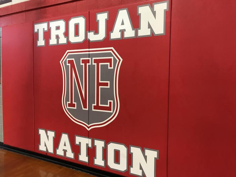 Trojan Nation Gym Sign