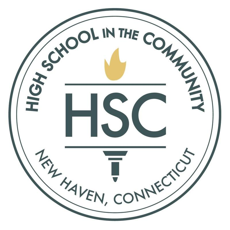 HSC logo with school name, new haven, ct and torch in the center