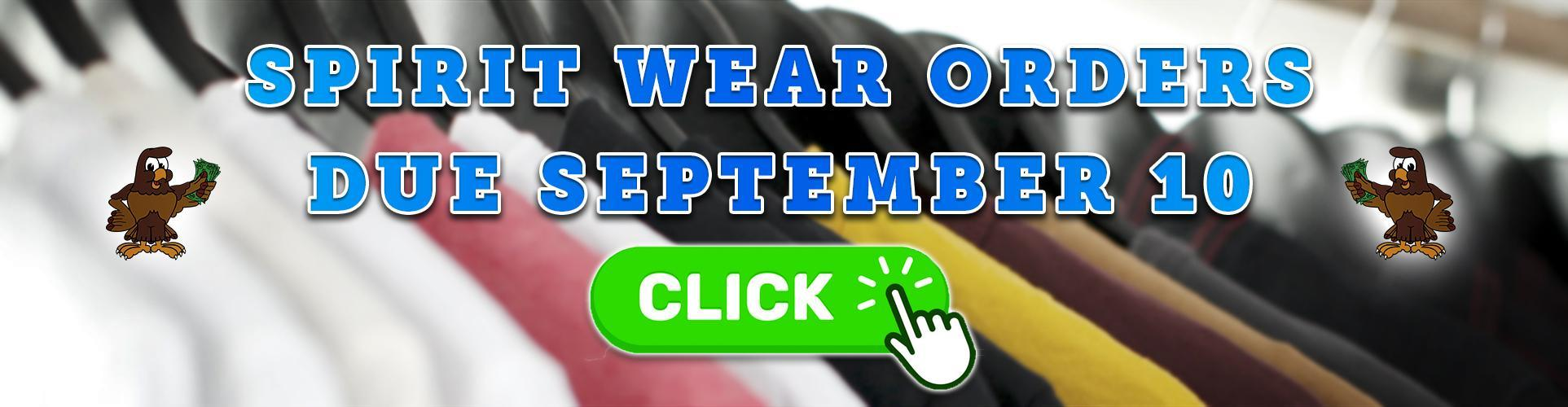 Fairmont Spirit Wear Now Available: Orders Due September 10