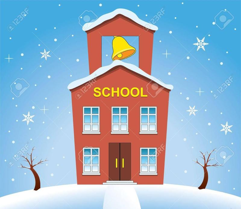 snowy school house