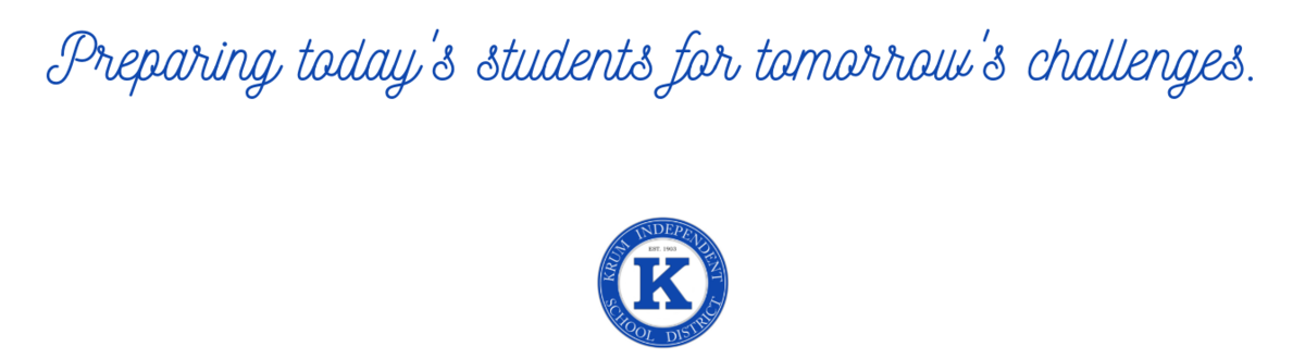 image features white background and blue text with words preparing today's students for tomorrow's challenges.