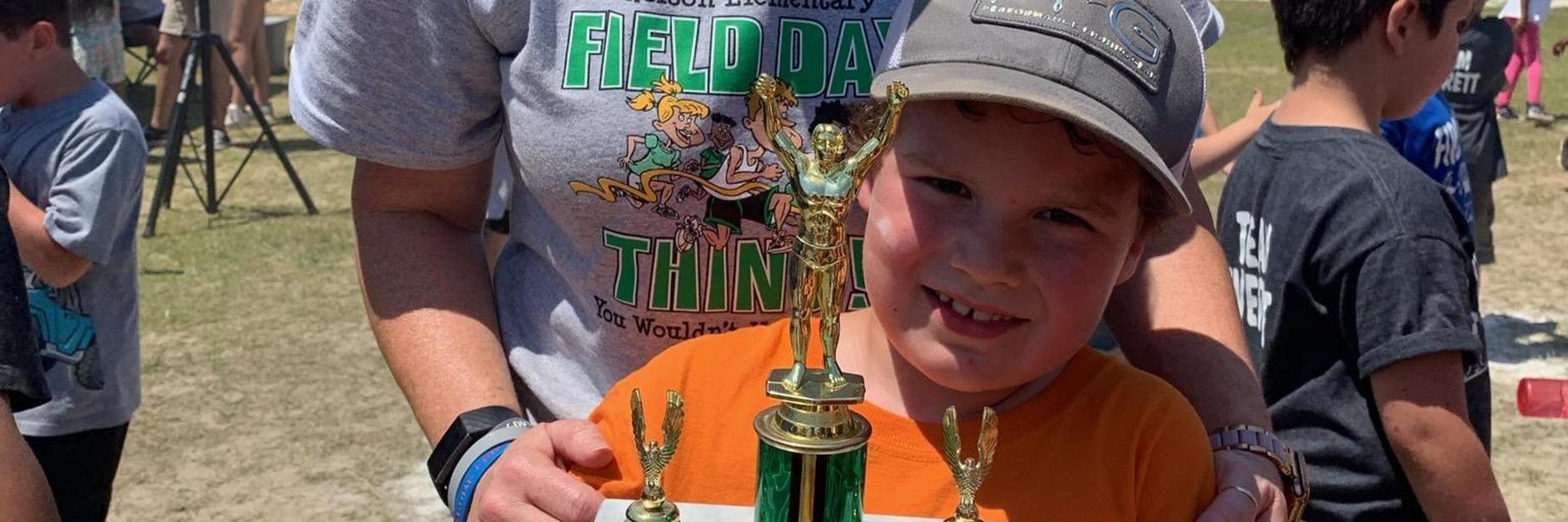 Proud of that trophy! Caden Allen