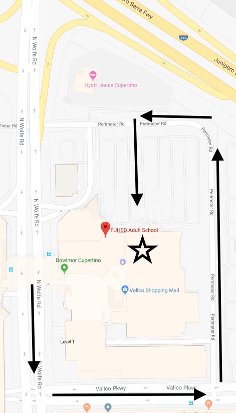 Map to FUHSDAdultSchool