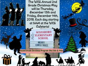 2nd Grade's 2018 Annual Christmas Play on December 13th & 14th