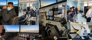 a collage of photos from the aviation lab