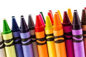 Crayons of various colors