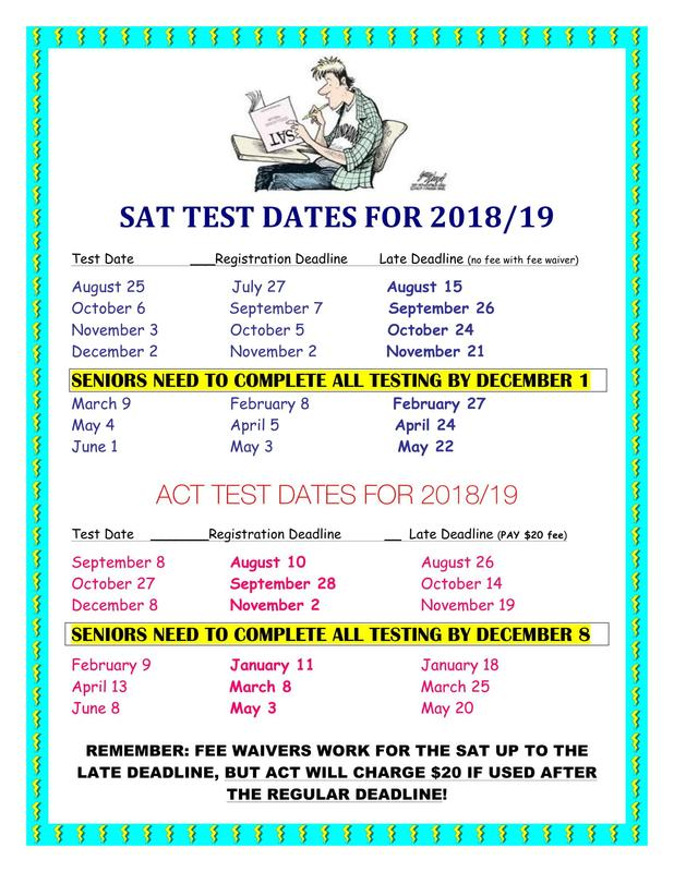 SAT ACT Test Dates 2018-2019 Featured Photo