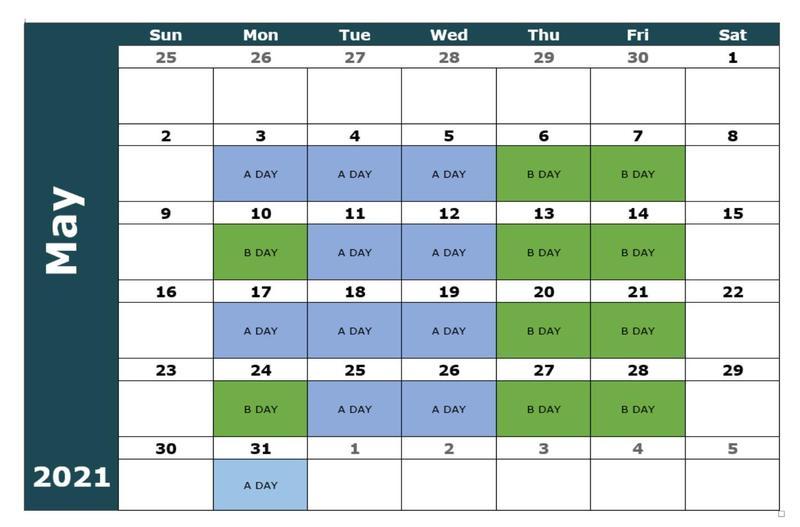 May Blended Calendar