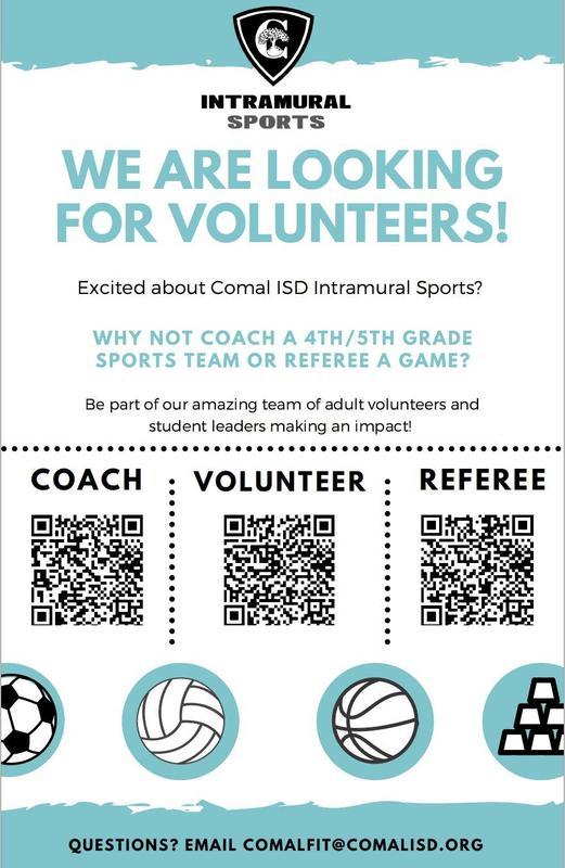 Volunteers needed for Intramural Sports