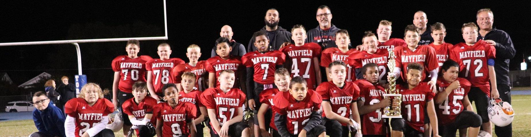 5th Grade MMS football with runner up trophy