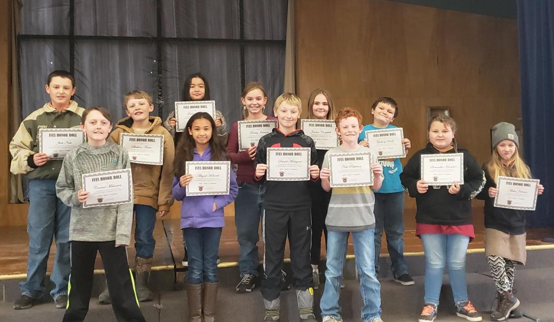 1st Trimester Honor Roll