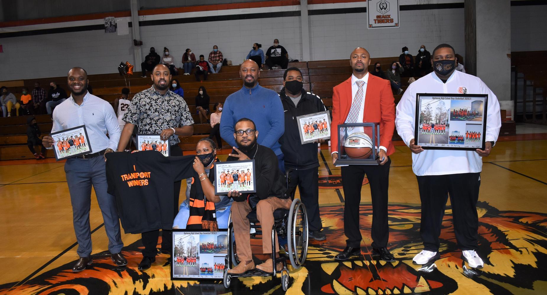 Boy's Basketball Senior Night Coaches Recognition