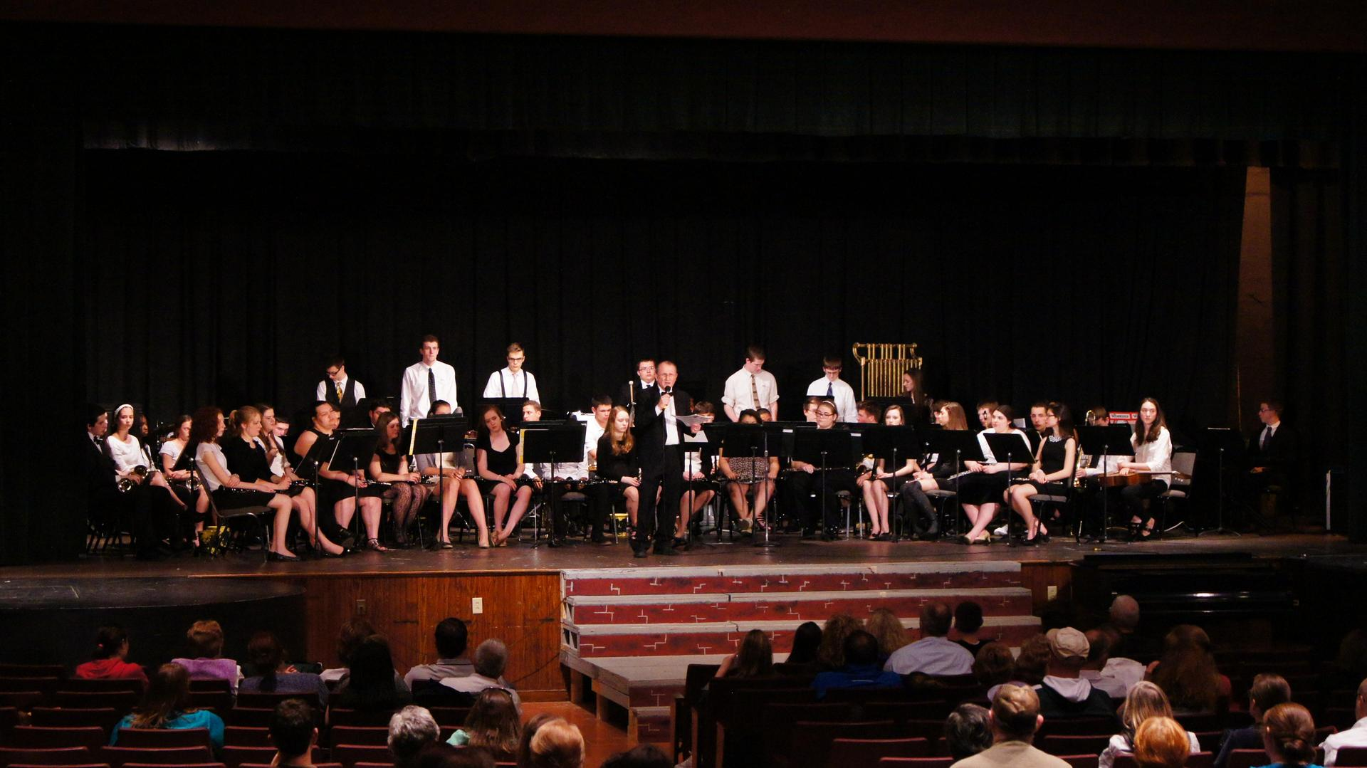 Concert Band performs in the auditorium