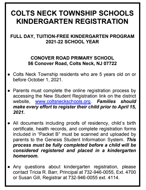 Kindergarten Registration Featured Photo