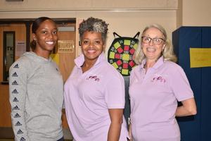Otken Elementary Celebrates National Children's Dental Health Month.  Dr. Karen Bryant Luckett and her dental hygienist, Serena Holmes, discuss hygiene with Otken Scholars.  #ItsComeBackTime