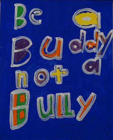 Be a buddy not a bully artwork