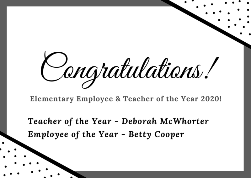 Congratulations to Elementary Teacher and Employee of the Year! Featured Photo