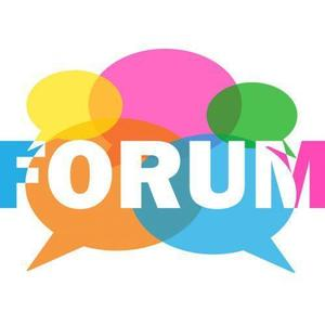 Speech bubbles with the word Forum