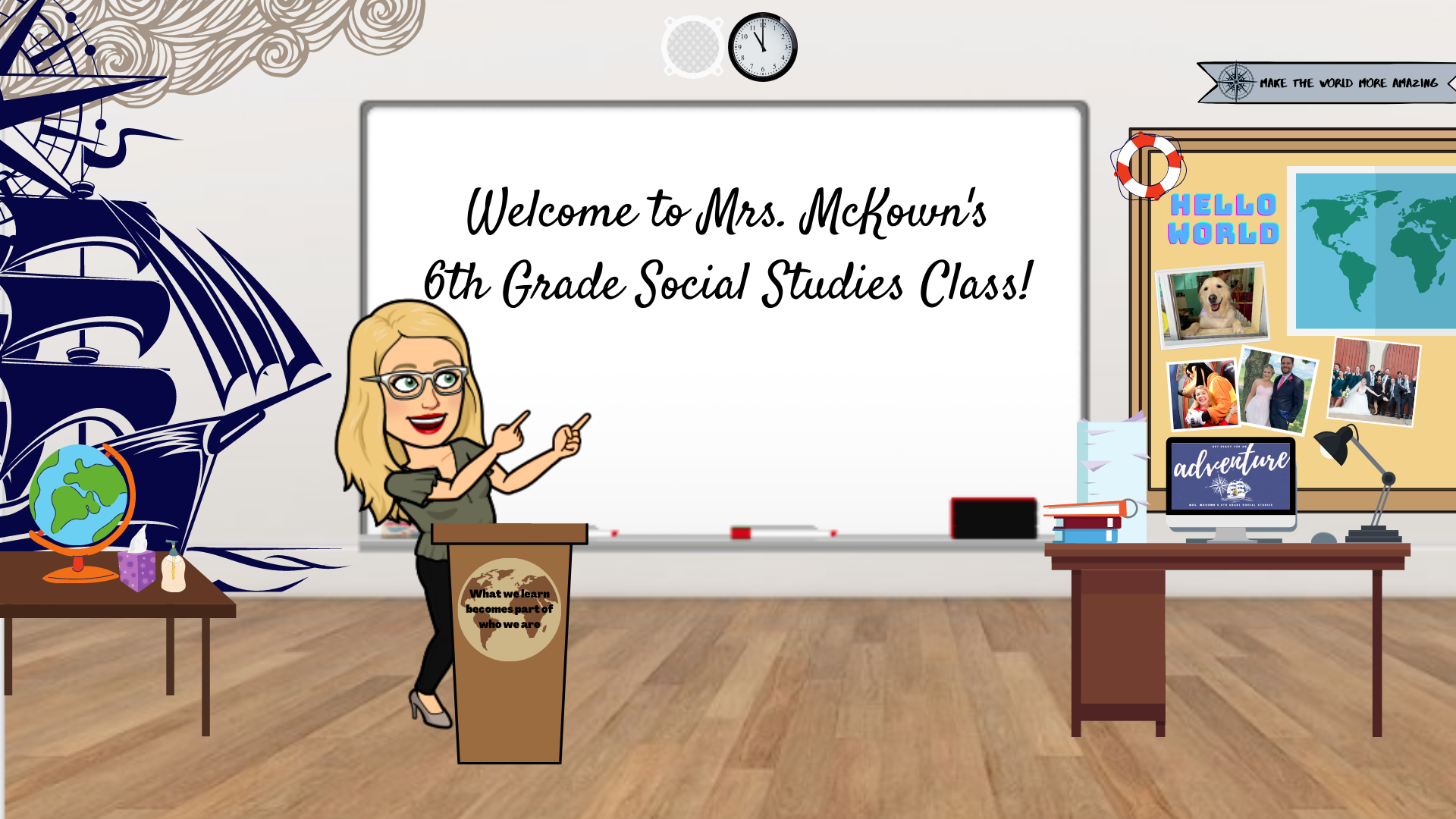 Mrs. McKown's Bitmoji Classroom