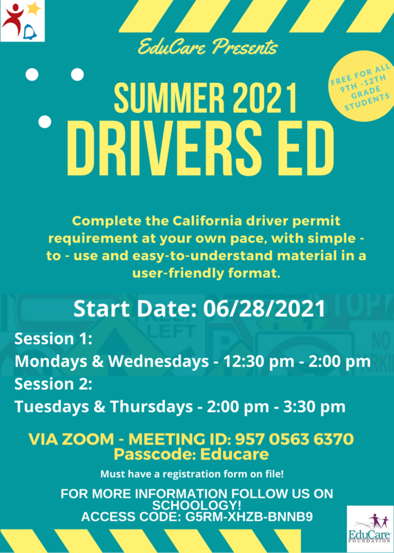 Educare Presents Summer 2021 Drivers ED Featured Photo