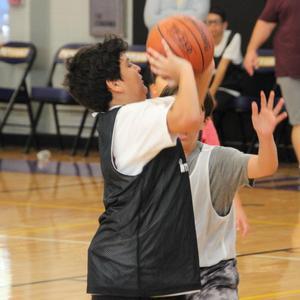 Ben Benavides ISES basketball