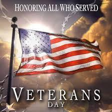 We welcome ALL VETERANS to our Veterans Day Program ~ Friday, November 9th Featured Photo