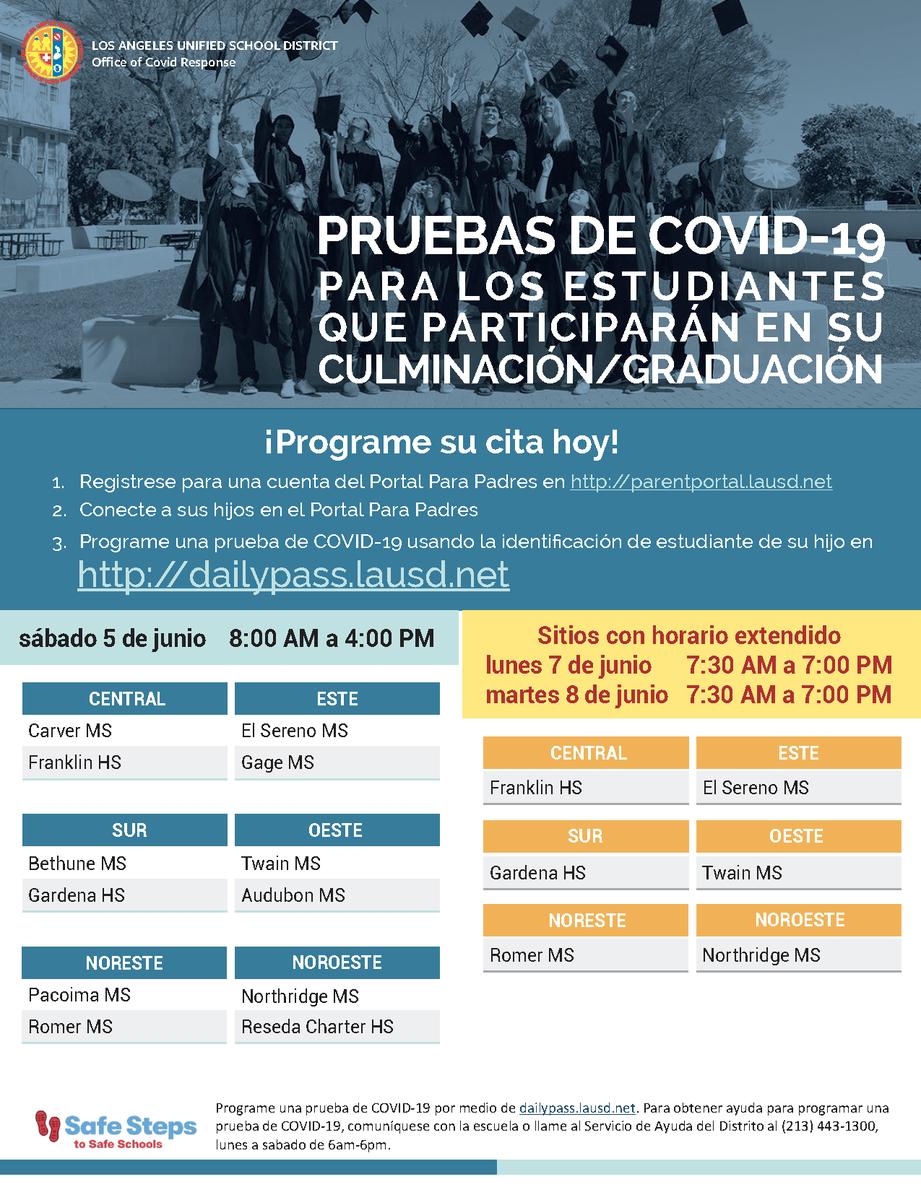 Covid Testing Flyer-Spanish
