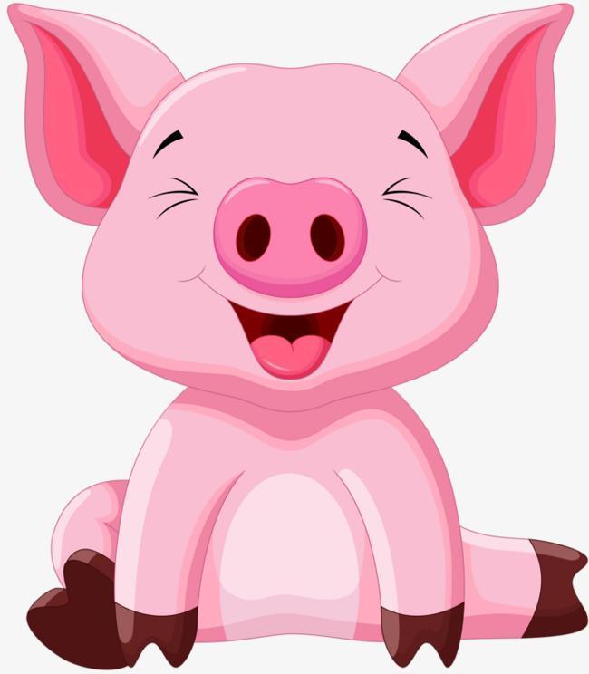 Pink Pig laughing